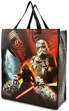 "Star Wars Disney Darth Vader The Force Awakens Reusable Plastic Tote 19.5"" x 17"""