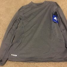Starter Boy's Compression Long Sleeve Top  Shirt Athletic Sz L 10-12 Gray