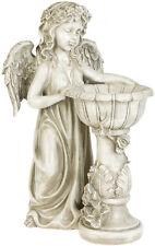 Eden Engel Garten Deko Figur mit Säule Engelsfigur Statue Skulptur Grabdeko Gott