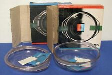 VTG 1960's VEB JENAer GLASWERK #5005 2pc ROUND BAKING DISH SET STORED NEW 50 YRS