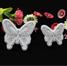 Butterfly Fondant Mold Lace Wedding Party Cake Decorating Tools Mould 2pcs