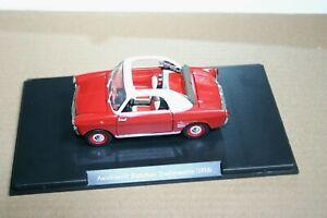 1/24 AUTOBIANCHI BIANCHINA TRASFORMABILE 1958 RED OPENING FEATURES CASE NO BOX