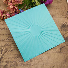 Rays Plastic Embossing Folders Template DIY Scrapbooking Card Decor Craft