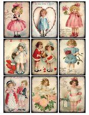 9 Valentine Vintage Victorian Hang Tags Scrapbooking Paper Crafts (211)