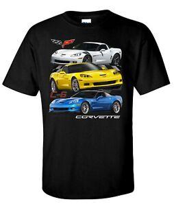 Chevy Corvette C6 Men's T-Shirt Black 6th Gen Grand Sport ZR1 Z06