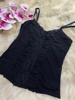 Me & Me black Camisole Top sleepwear nightwear size M