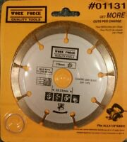 "Work Force 4-1/2"" Segmented Rim Diamond Blade #01131 fits 7/8"" and 20mm arbors"