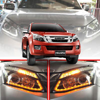 Headlight Front Lamp Projector LED Clear Lens For Isuzu D-max Dmax 2012 13 14