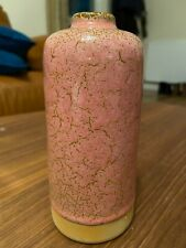 Brand New Pink Ceramic Crackle Effect Vase, Height 15cm
