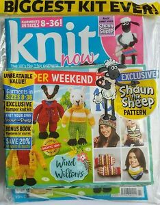 Knit Now! Magazine # 91 Wind in the willows kit, Shaun the sheep patterns