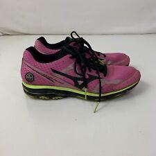 Mizuno Wave Rider 17 Size US 11 M (D) Men's Running Shoes Pink Green