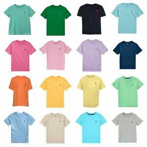 Genuine Ralph Lauren Polo Boys T shirt top Crew S/S Age 2 - 14 Free UK P&P New