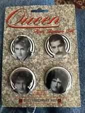 Queen band buttons set of 4 Freddie Mercury Brian May