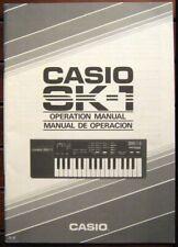 Casio SK-1 Sampler Keyboard Original Owner's Manual / Operating Book