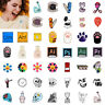 1pc Unisex Cartoon Enamel Piercing Brooch Pin Collar Decor Badge Corsage Jewelry