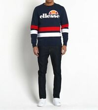 Ellesse Men's Sweatshirt - Puccini - XXL -  2XL -Navy Red White - RRP £55 - SALE