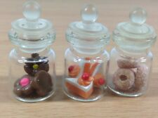 3pc Miniature Cake Food Candy Dollhouse Cake Donut Glass Mini Bottle fruit mix