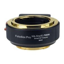 Fotodiox Fusion Smart af adaptador Mark II, Nikon G-Mount lens Sony e-Mount Camera