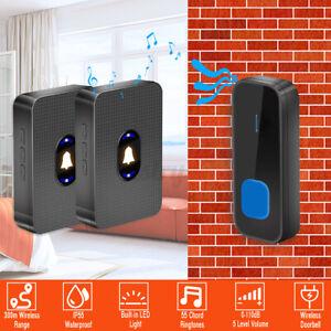 5-level Wireless LED Waterproof Door Bell 55 Chime Doorbell Night Light 300M