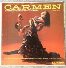 Dominico Savino  Bizet Carmen  Kapp Opera Without Words KS-3373 Stereo LP