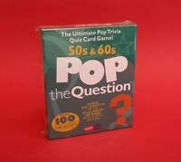 Music Card Game Pop The Question 50s & 60s Pop Artists Game Xmas Gift NEW