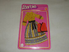 WORLD OF BARBIE BEST BUY FASHIONS SET STRIPE FLOWER DRESS 2226 MATTEL 1975 NOC
