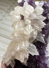 1970g/first-class Brazil amethyst purple cluster and calcite geode specimens