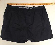 Emporio Armani XL Black Logo Waistband Woven Boxer Shorts REDUCED$