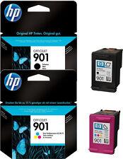 2x HP 901 ORIGINAL TINTE PATRONEN OFFICEJET J4500 J4524 J4535 J4540 J 4550 J4580
