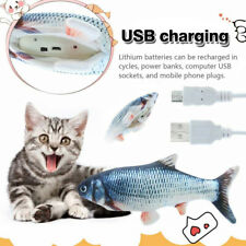 Cat Pet Toy USB Charging Electric Dancing Fish Kicker Wagging Realistic Moves