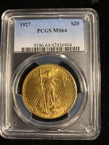 1927 Saint Gaudens $20 MS64 PCGS