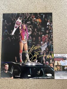 WWE Sasha Banks signed 11x14 autograph photo JSA Authenticated