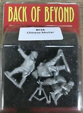 Back of Beyond Chinese Heavy Mortar (3) 28mm Copplestone Castings New!