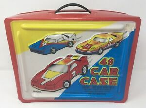 Vintage Tara Toy 48 Car Carrying Case RED Hot Wheels Matchbox Die Cast 20300