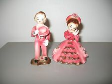 Vintage Dancing Boy and Girl with Roses - Pink - Japan