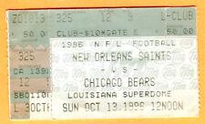 10/13/96 SAINTS/BEARS FOOTBALL TICKET STUB