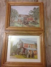 Coca Cola Pictures Size 8 X 10 Wooden Frames Lot Of 2 EUC