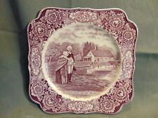 George Washington Mother Bicentennial Memorial Plate Crown Ducal England purple