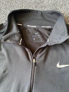 Nike Ladies Running Black 1/4 Zip Dri Fit Sweatshirt Size L Large 14-16