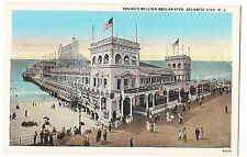 AMERICAN FLAGS Young's Million Dollar Pier Atlantic City NJ Postcard CAMEL SIGN