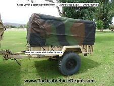 M101A1 M101A2 M101A3 Trailer Top Cargo Cover Tarp 3 color Camo Vinyl 8382966-2