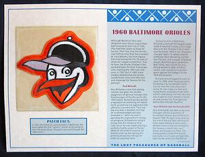 1960 BALTIMORE ORIOLES ~ Willabee & Ward LOST TREASURES BASEBALL TEAM LOGO PATCH