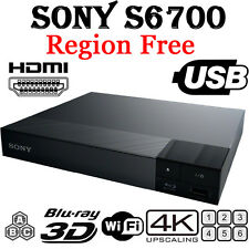 Sony S6700 Region Free DVD & BD ZONE ABC Blu-Ray Disc Player- 4K Upscale 3D WIFI