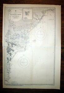 1927 Cape Kaliakra to Odessa Russland Ukraine admirality nautical Karte map
