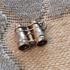 Beautiful Vintage Binoculars Solid Silver Bracelet Charm. Ideal Gift Idea