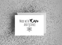 made with love and science ivf baby card 5x7 inches
