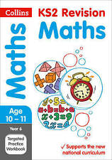 Year 6 Maths SATs Targeted Practice Workbook by Collins KS2 (Paperback, 2015)