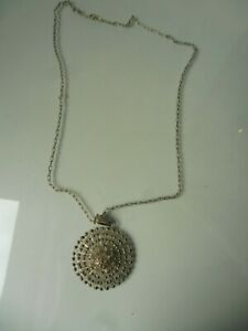 Beautiful, old Chain With Large Pendant, 835 Silver