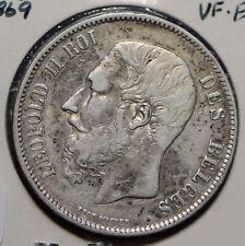 Belgium 1869 5 Francs 290118 combine