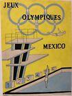 Jeux Olympiques Mexico Encre Et Aquarelle Anonyme